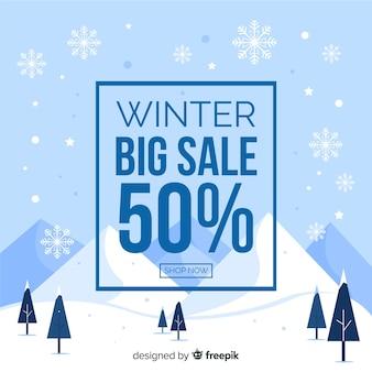 Banner de vendas de inverno