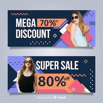 Banner de vendas de moda