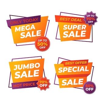 Banner de vendas de promoção colorida