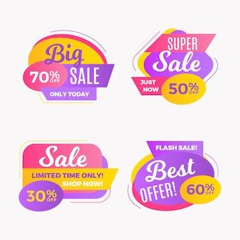 Banner de vendas de promoção moderna