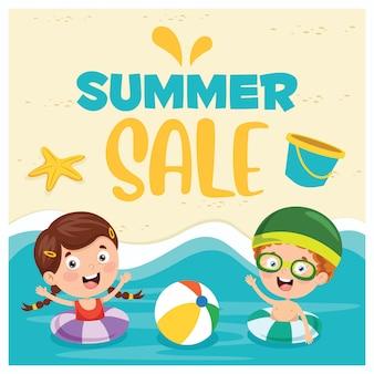 Banner de vendas de verão