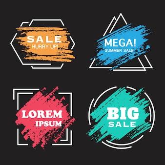 Banner de vendas em aquarela