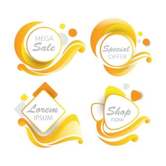 Banner de vendas em redemoinho detalhado