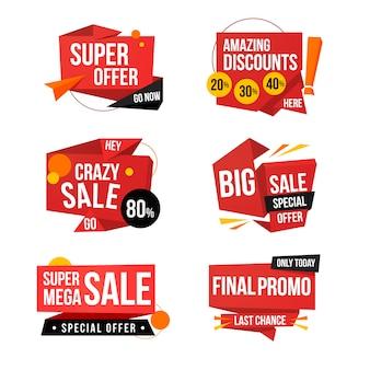 Banner de vendas no conceito de estilo origami