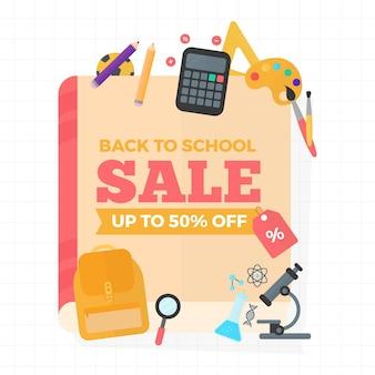 Banner de vendas para voltar às aulas