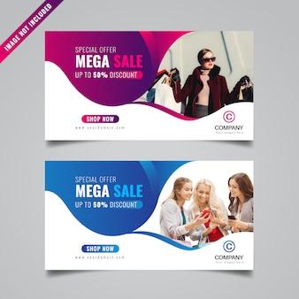 Banner de vendas promocionais