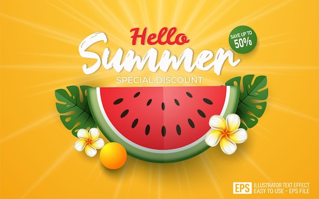 Banner de verão com melancia