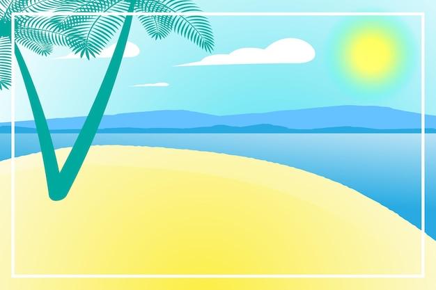 Banner de verão ou fundos com espaço para texto. cartão de felicitações, cartaz e publicidade, papel de parede. paisagem de verão, férias, fim de semana, conceito de férias. feliz dia brilhante.
