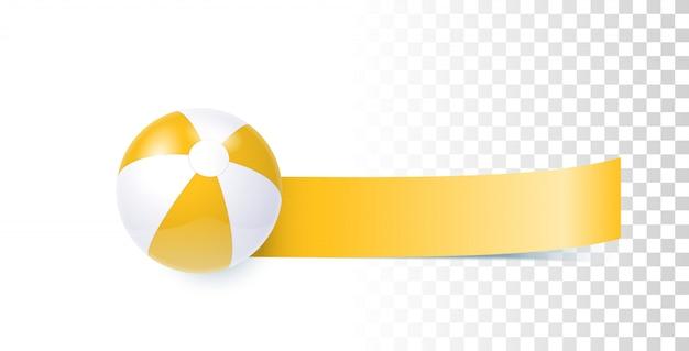 Banner de verão yelllow