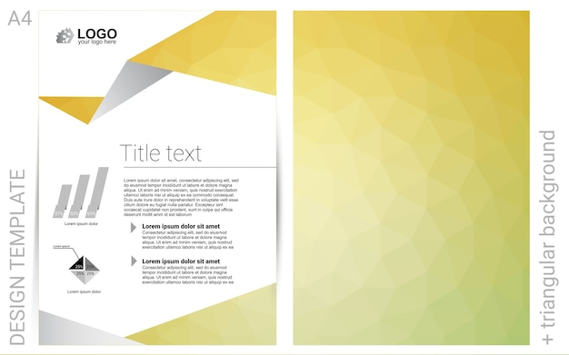 Banner de vetor amarelo para sites