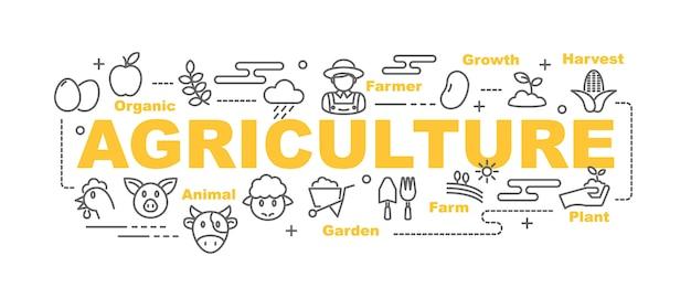 Banner de vetor de agricultura
