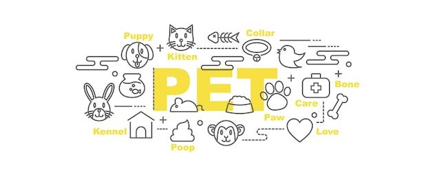 Banner de vetor de animal de estimação