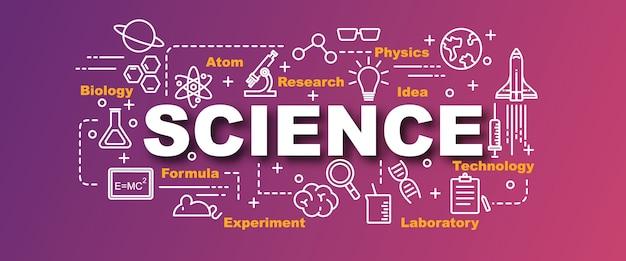 Banner de vetor de ciência