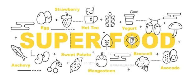 Banner de vetor de comida super
