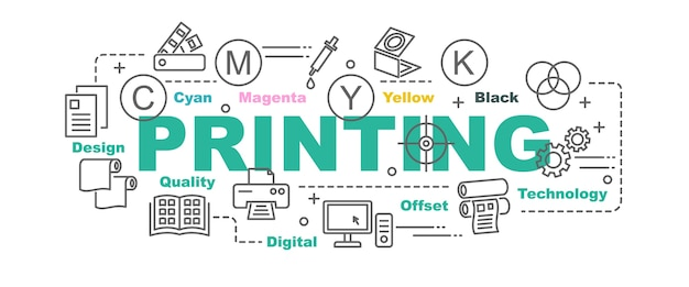 Banner de vetor de impressão
