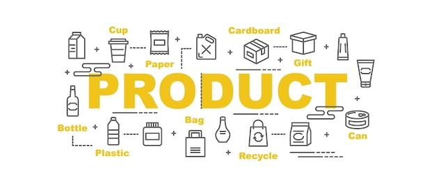 Banner de vetor de produto