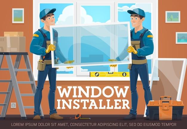 Banner de vetor de serviço de instaladores do windows
