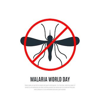 Banner de vetor do dia mundial da malária Vetor Premium