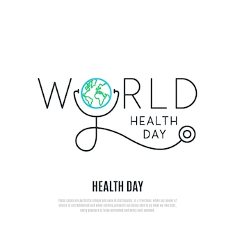 Banner de vetor do dia mundial da saúde