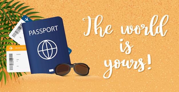 Banner de viagem. férias de verão