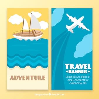Banner de viagens de aventura