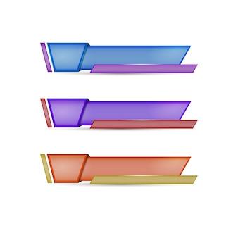 Banner de vídeo de mídia social do terceiro rótulo inferior
