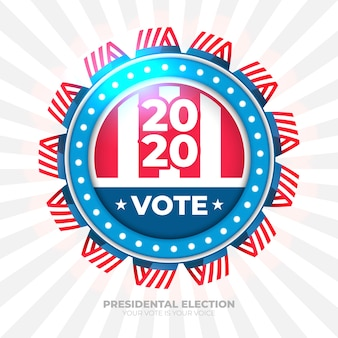 Banner de voto de 2020 para eleição presidencial