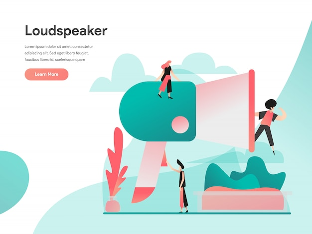 Banner de web de alto-falante