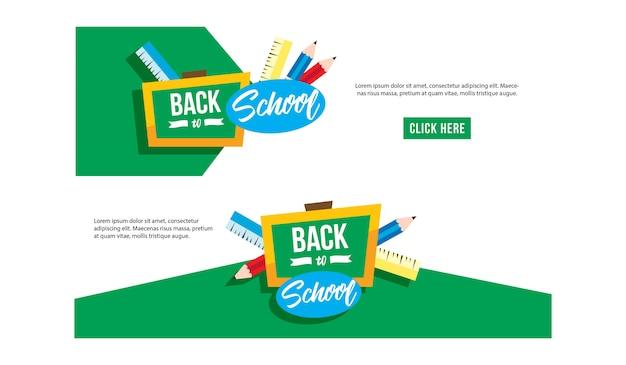 Banner de web de escola