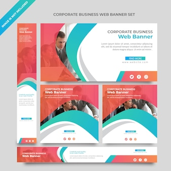 Banner de web de negócios tempalate