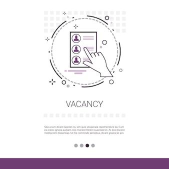 Banner de web de pesquisa de vagas de candidato especialista