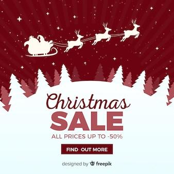 Banner de web de venda de natal