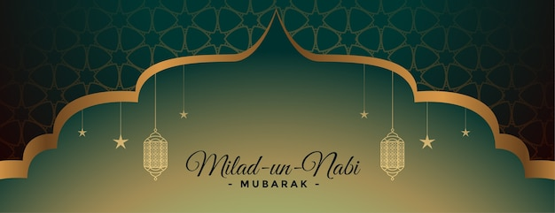 Banner decorativo do festival milad un nabi