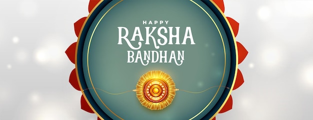 Banner decorativo raksha bandhan em estilo indiano
