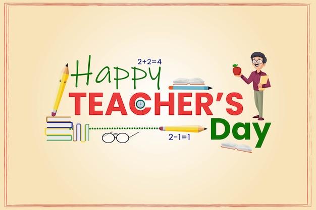 Banner design criativo para feliz dia do professor