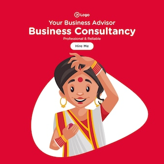 Banner design de consultoria de negócios profissional e confiável