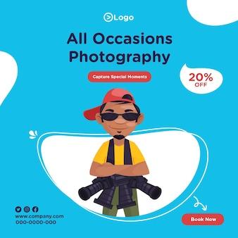 Banner design de fotos de todas as ocasiões para capturar momentos especiais