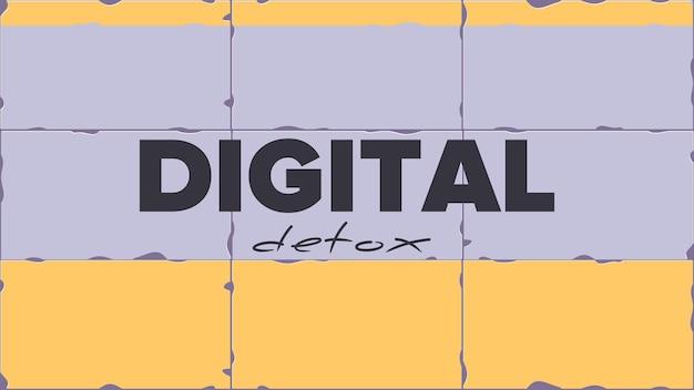 Banner digital de desintoxicação. o conceito de proibição de dispositivos, zona livre de dispositivos, desintoxicação digital.
