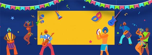 Banner do carnaval brasileiro.