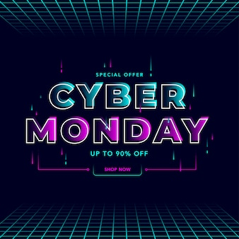 Banner do conceito de cyber monday
