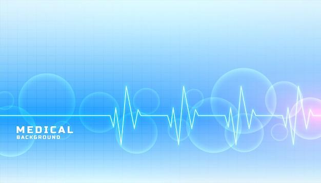 Banner do conceito de medicina e saúde na cor azul