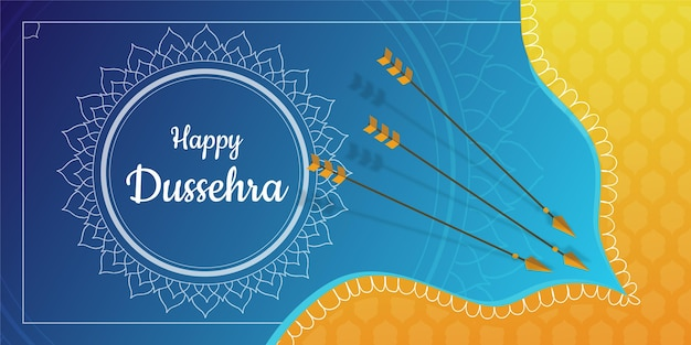Banner do conceito dussehra