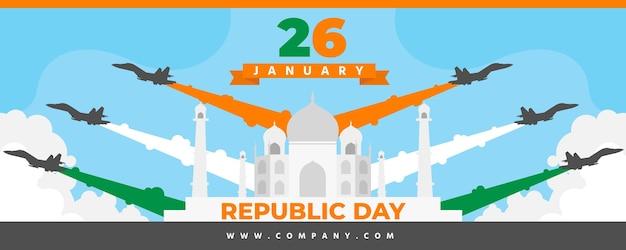 Banner do dia da república de design plano