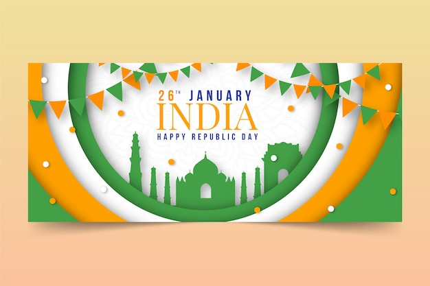 Banner do dia da república em estilo jornal