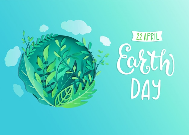 Banner do dia da terra para celebração de segurança do meio ambiente