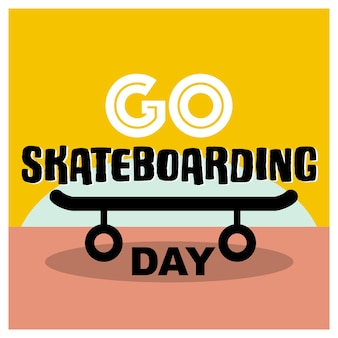 Banner do dia do skateboarding com