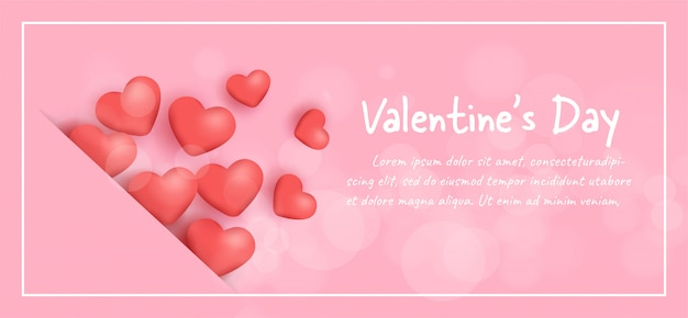 Banner do dia dos namorados com corações.
