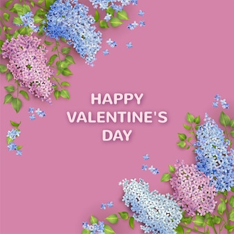 Banner do dia dos namorados com flor em flor