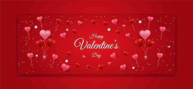 Banner do dia dos namorados com formato de amor