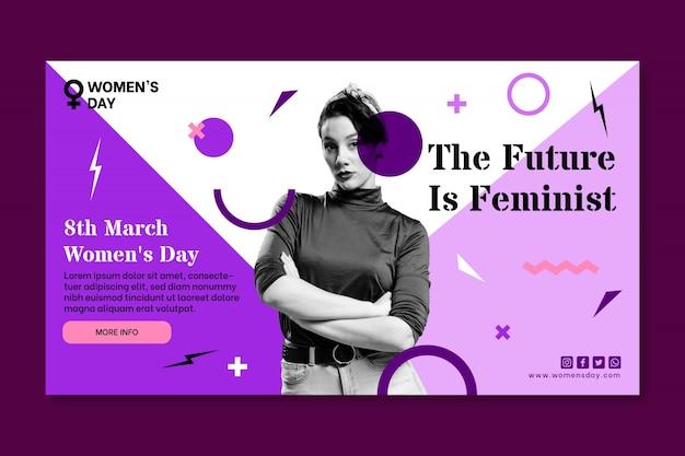Banner do dia internacional da mulher Vetor grátis